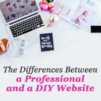 Differences between a professional and a DIY website