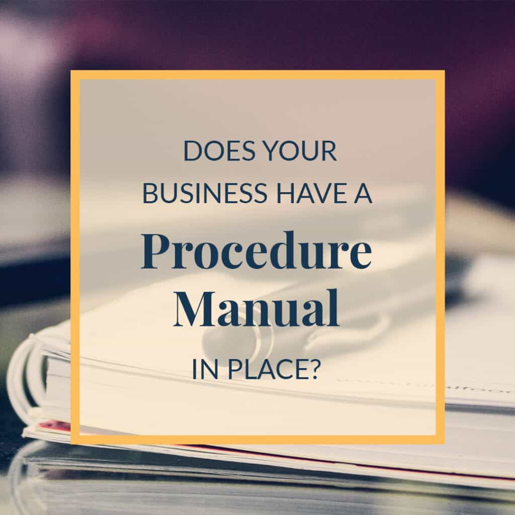 JLVAS- Does Your Business Have a Procedure Manual Blog Image - V1, AF
