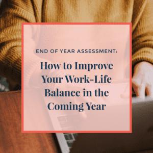 improve your work life balance