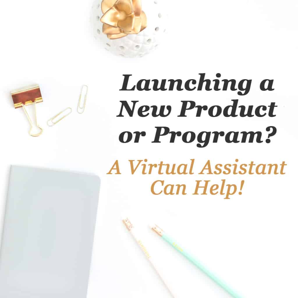 Launching a new product or program? A Virtual Assistant can help!