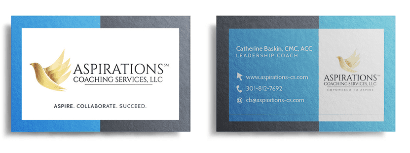 Aspirations Coaching Services Business Card Design