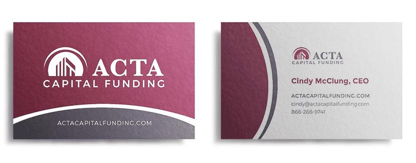 ACTA Capital Funding Business Card Design