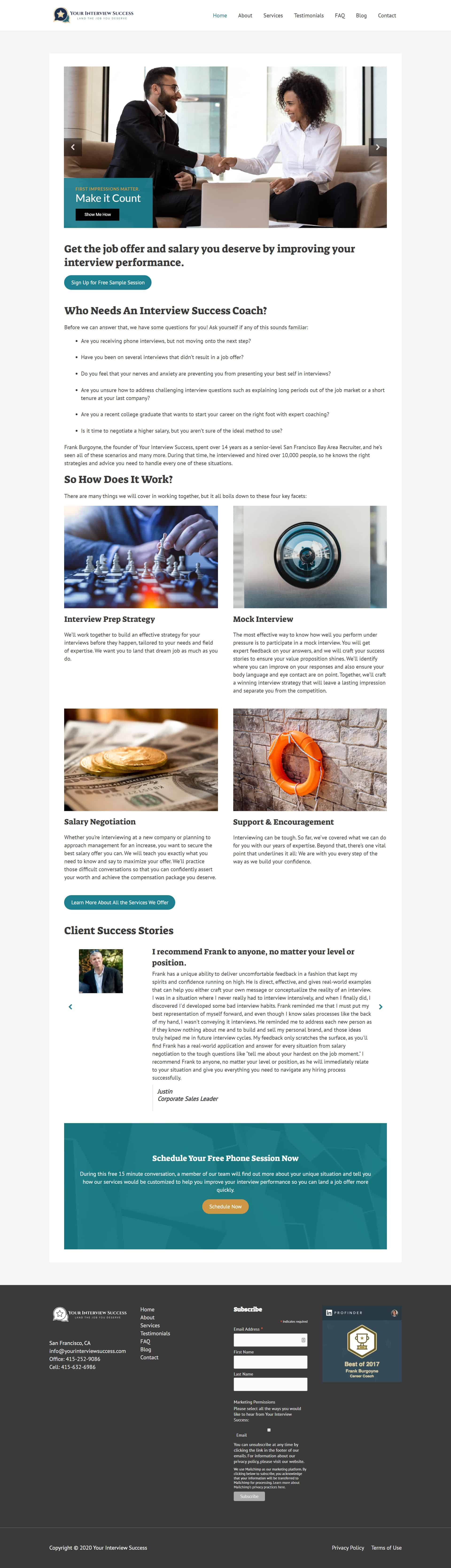 Website Design & Layout Example