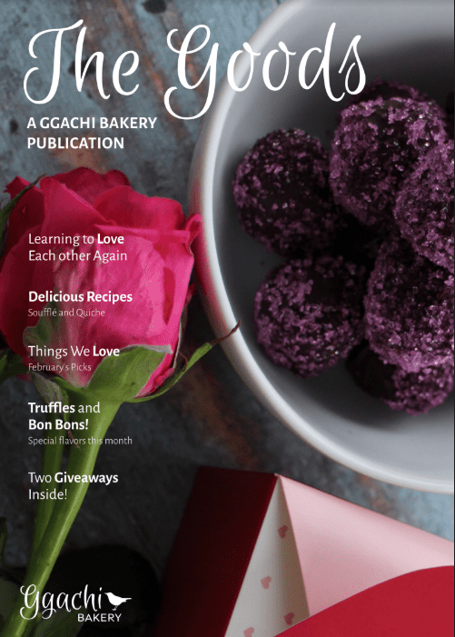 Magazine Cover Displaying a Rose Next to a Bowl of Truffles