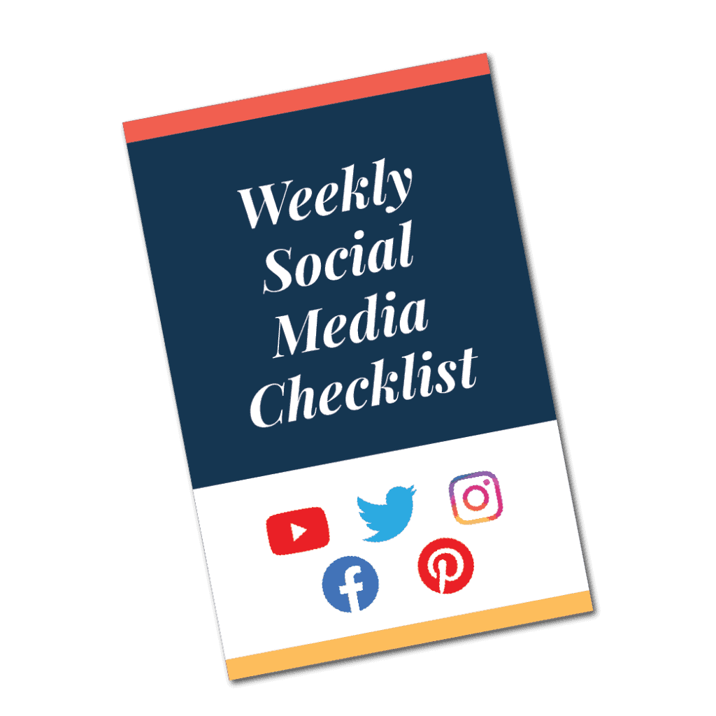 Weekly Social Media Checklist Brochure Image