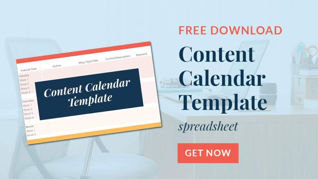 Content Calendar Template Spreadsheet Download Image