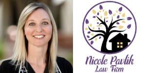 Nicole Pavlik Law Firm Headshot and Logo