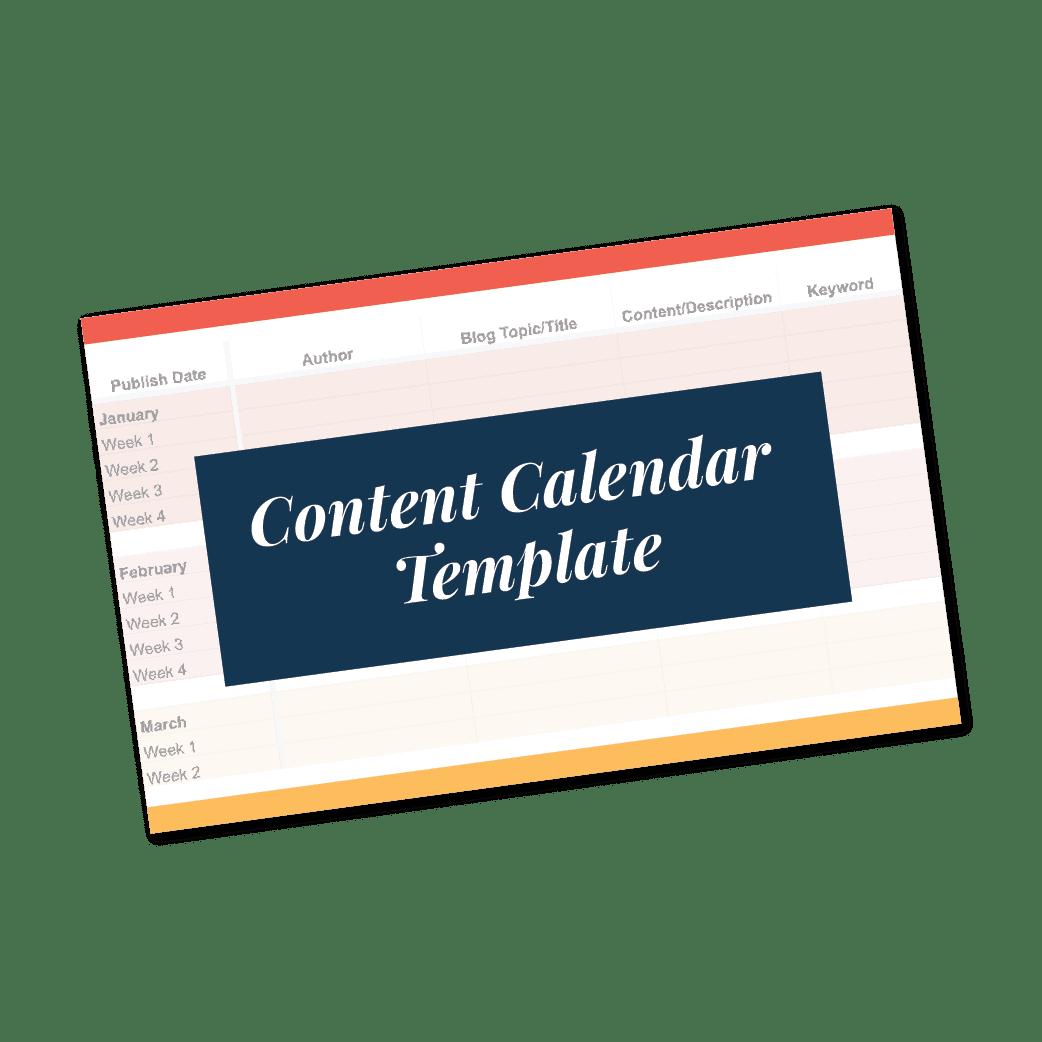 3 Month Content Calendar Template