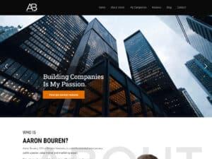 Aaron Bouren Website
